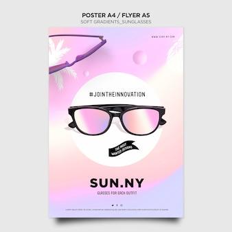 Modelo de pôster de loja de óculos de sol