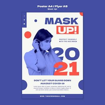 Modelo de pôster de máscara para 2021