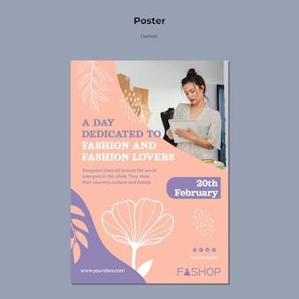 Modelo de pôster de moda em grande promoção