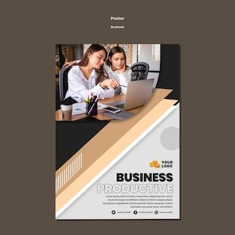 Modelo de pôster de negócios a4