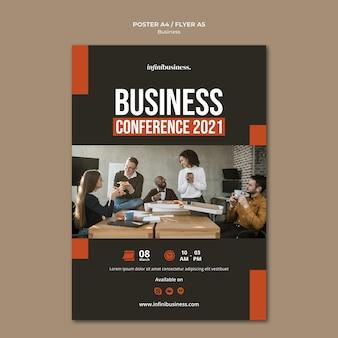 Modelo de pôster de negócios
