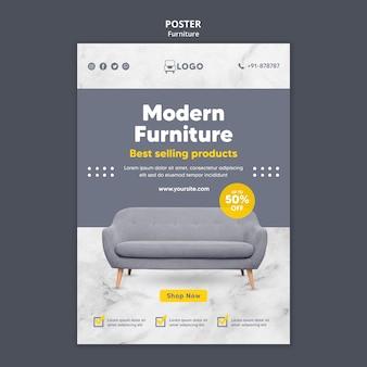 Modelo de pôster de oferta de móveis modernos