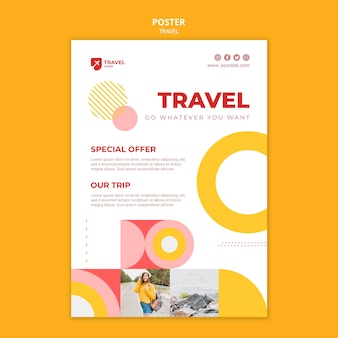 Modelo de pôster de oferta de viagem
