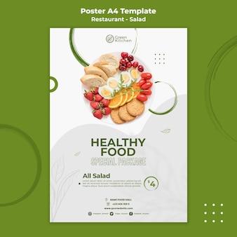 Modelo de pôster de pacote de comida saudável