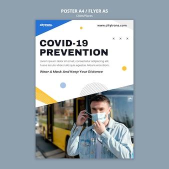 Modelo de pôster de prevenção covid19