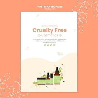 Modelo de pôster de produtos livres de crueldade
