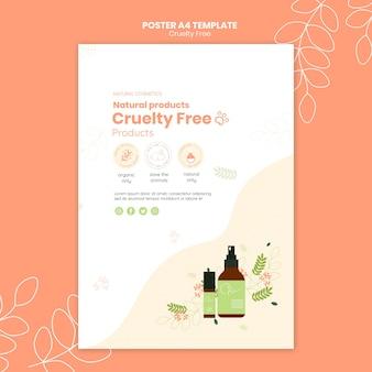Modelo de pôster de produtos sem crueldade