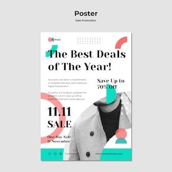 Modelo de pôster de promoção de venda