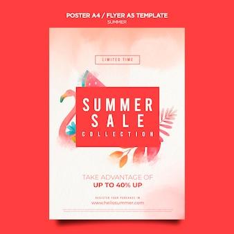 Modelo de pôster de promoção de verão
