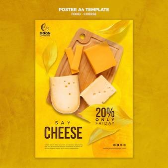 Modelo de pôster de queijo delicioso