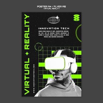 Modelo de pôster de realidade virtual
