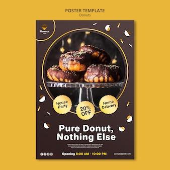 Modelo de pôster de rosquinhas deliciosas com foto Psd grátis
