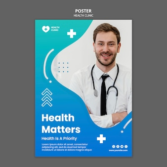 Modelo de pôster de saúde