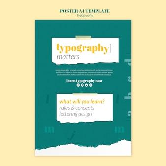 Modelo de pôster de serviço de tipografia