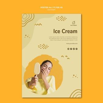 Modelo de pôster de sorvete