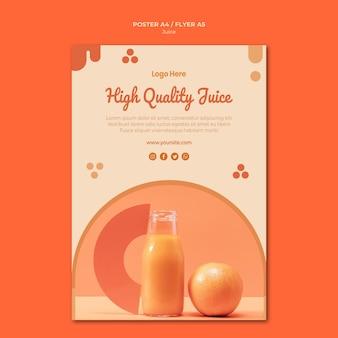 Modelo de pôster de suco de laranja
