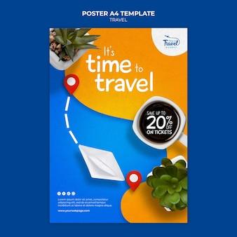 Modelo de pôster de tempo de viagem