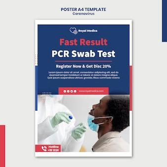 Modelo de pôster de teste de swab pcr