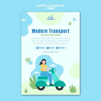 Modelo de pôster de transporte moderno