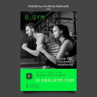 Modelo de pôster de treinamento de ginástica
