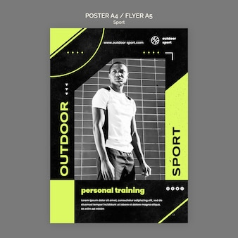 Modelo de pôster de treinamento pessoal