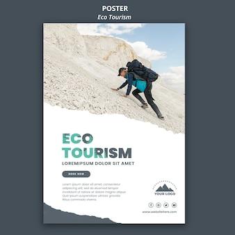Modelo de pôster de turismo ecológico