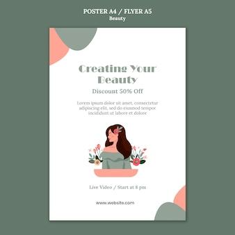 Modelo de pôster de venda de beleza