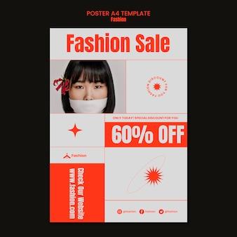 Modelo de pôster de venda de moda