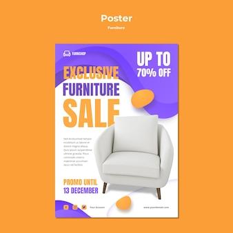 Modelo de pôster de venda de móveis