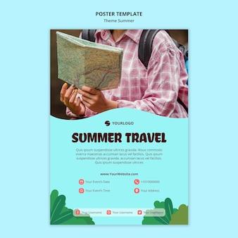 Modelo de pôster de viagem de verão