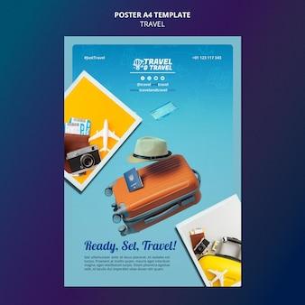 Modelo de pôster de viagem