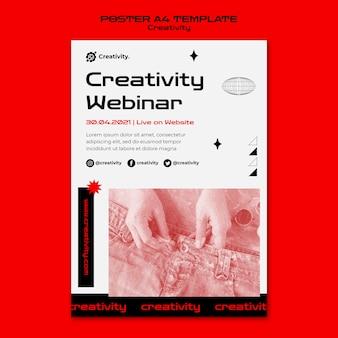 Modelo de pôster de webinar de criatividade