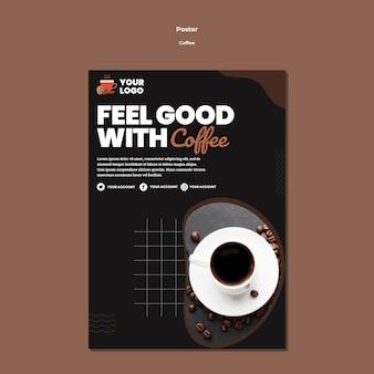 Modelo de pôster de xícara de café