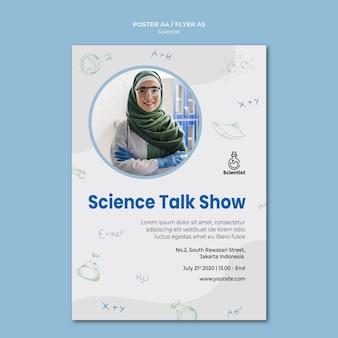 Modelo de pôster do clube de ciências