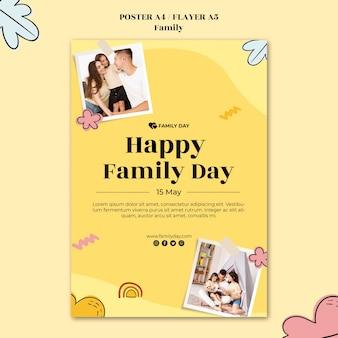 Modelo de pôster do dia da família