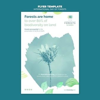 Modelo de pôster do dia da floresta criativa