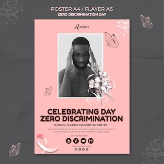 Modelo de pôster do dia de discriminação zero