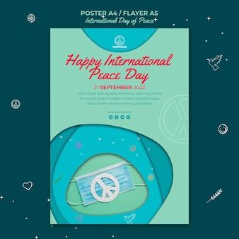 Modelo de pôster do dia internacional da paz