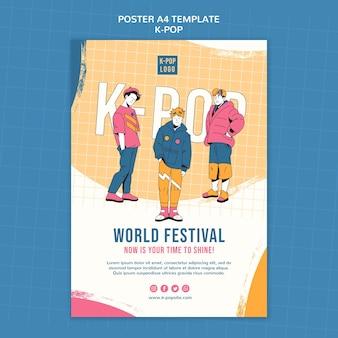 Modelo de pôster do festival mundial