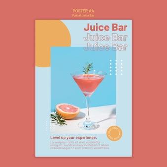 Modelo de pôster do juice bar