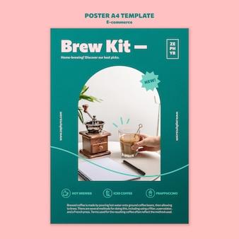 Modelo de pôster do kit brew