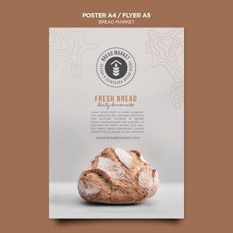 Modelo de pôster do mercado de pão
