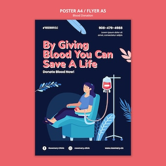 Modelo de pôster doe sangue