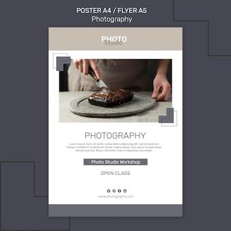 Modelo de pôster fotográfico