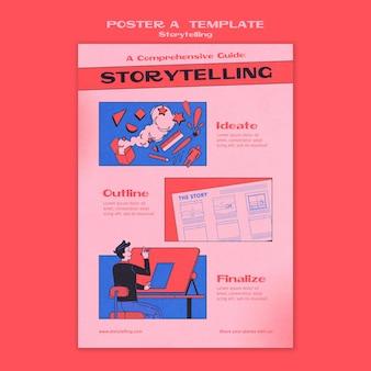 Modelo de pôster narrativo