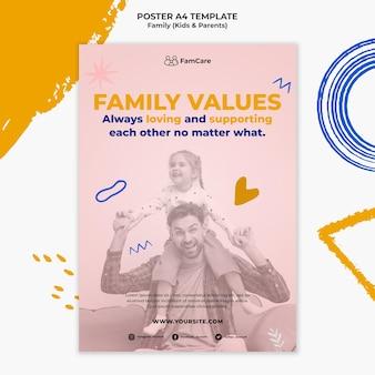 Modelo de pôster para a família