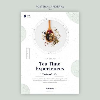 Modelo de pôster para a hora do chá