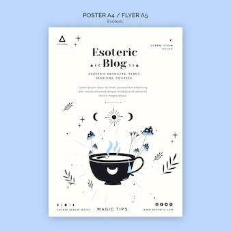 Modelo de pôster para blog esotérico