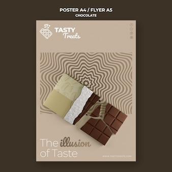 Modelo de pôster para chocolate