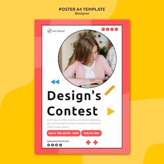 Modelo de pôster para concurso de design